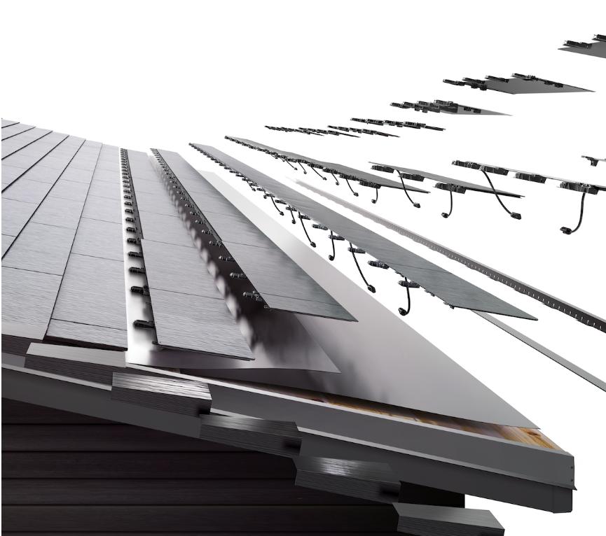 Tesla solar roofs