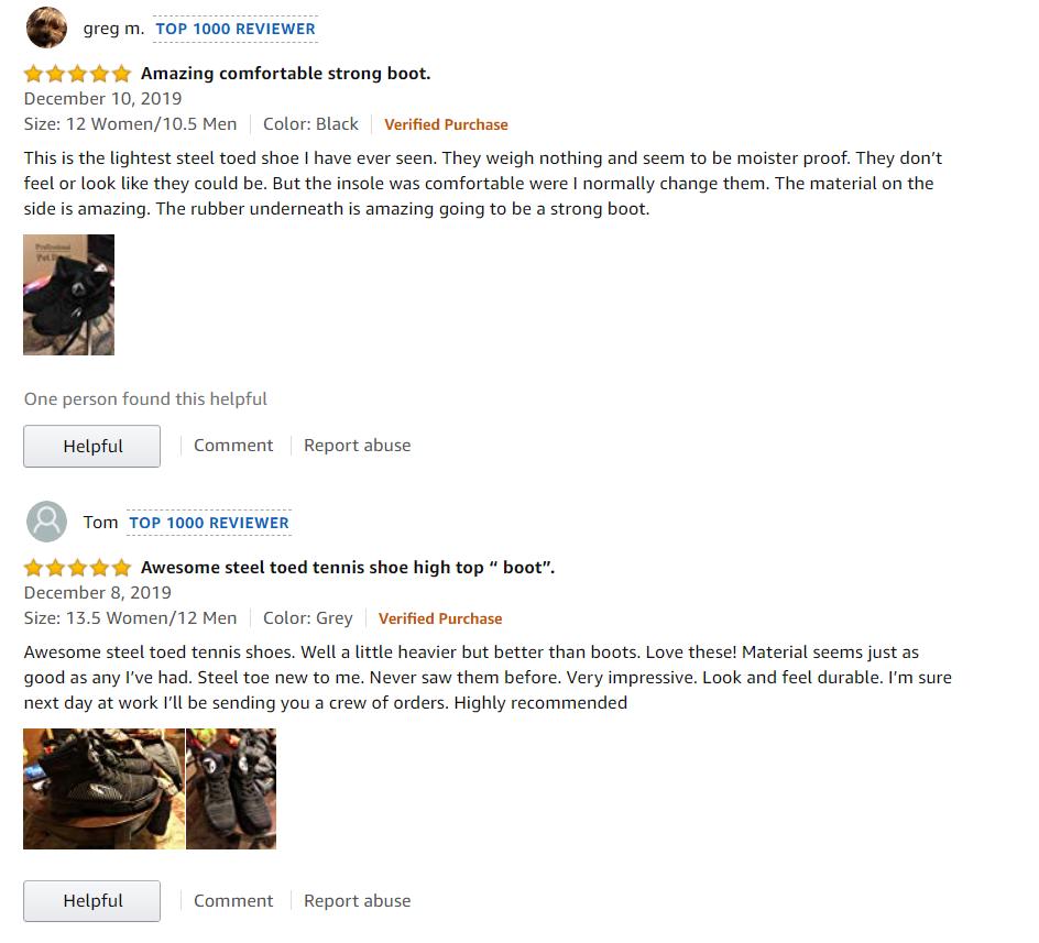 Indestructible Shoes Amazon Review #1
