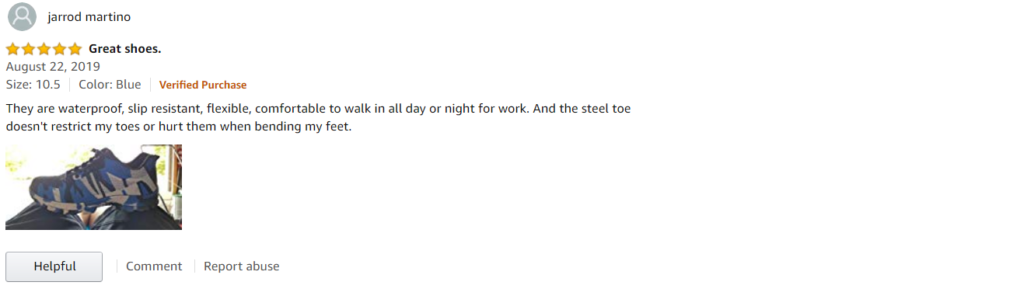 Indestructible Shoes Amazon Review #2
