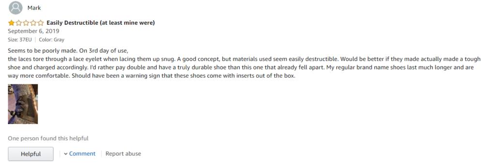 Indestructible Shoes Amazon Review #3