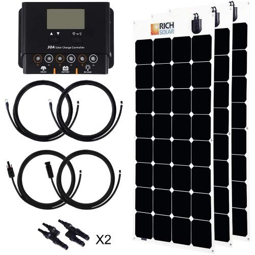 RICH-SOLAR-300-Watt-Flexible-Monocrystalline-High-Efficiency-Solar-Panel-SunPower-Cell